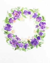 fiori cornice sfondo