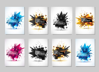 Vector illustration, abstract object, explosion substance matter. Abstract object with the image of the explosion.Abstract template for design. Fototapete