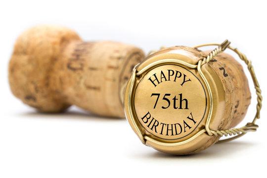 Happy 75th Birthday - Champagne