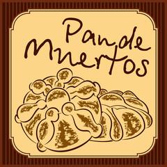 Pan de muerto - Mexican bread of the dead - vector