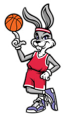 sporty look basketball rabbit