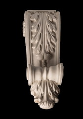 plaster capitellium, columns, pilasters, basrelief on a white and black background, gypsum