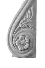 plaster capitellium, columns, pilasters, basrelief, gypsum