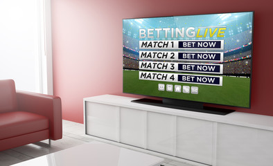 Television smart sports live betting