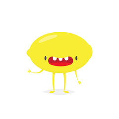 Lemon cartoon character vector