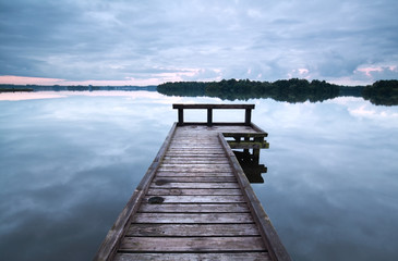 wooden pier on big lake