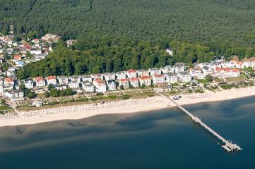 Luftaufnahme von Bansin auf der Insel Usedom