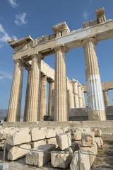 Säulen des Parthenons auf der Akropolis in Athen