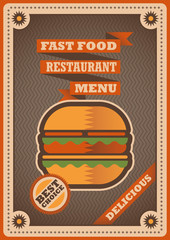 Retro poster for fast food restaurant.