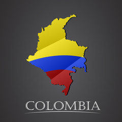 Map of colombia. vector illustration
