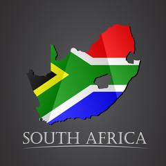 Map of south africa. vector illustration