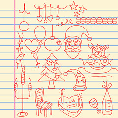 Kids Doodle Art for Xmas