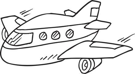 Doodle Aircraft Vector Illustration Art