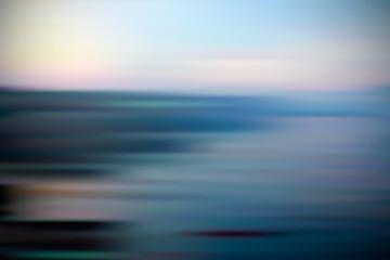 Landscape sky, sea, beach blur