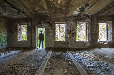 inside an Old ruined Howes