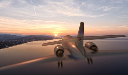 Private jet / 3d render
