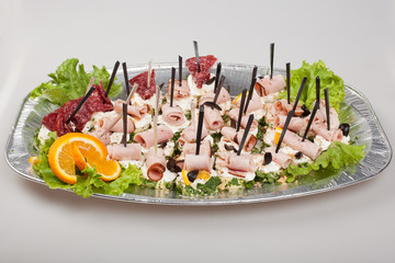 Party platter of sandwiches. Catering food