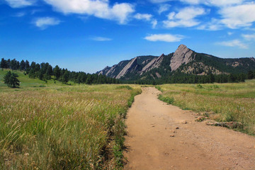 Trail in Boulder Colorado Flatirons - 