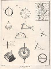 vintage navigation tools