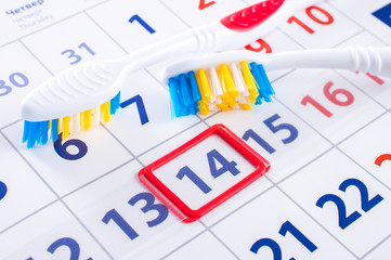 Calendar date of the visit to the dentist