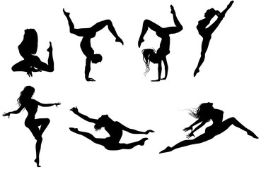 dancers silhouettes collection