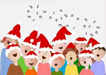 coro di bambini di Natale