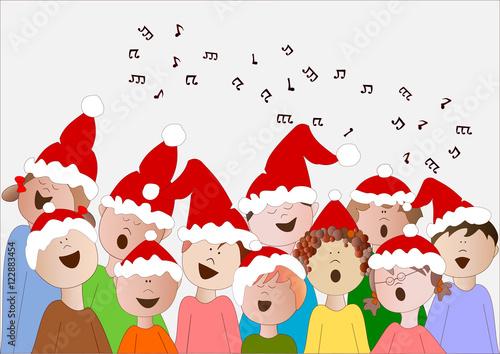 Immagini Di Natale Bambini.Coro Di Bambini Di Natale Immagini E Vettoriali Royalty