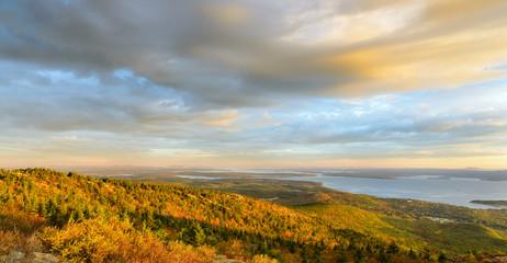 Wall Mural - New England Coastline in Autumn Panorama