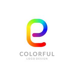 "Colorful logo design. Letter ""E"". Eps10 vector illustration."