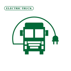 Electric truck icon