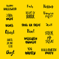 Halloween quotes at yellow