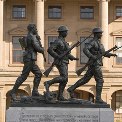 Soldier statues at Province House, Charlottetown, Prince Edward