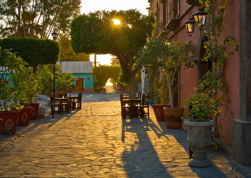 Street in Loreto, Baja Mexico