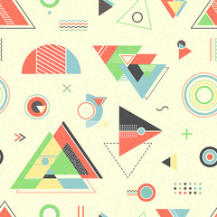 Abstract geometric background. Trendy seamless pattern