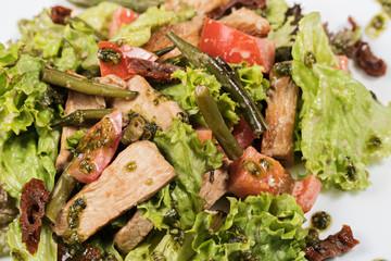 Salad with turkey fillet