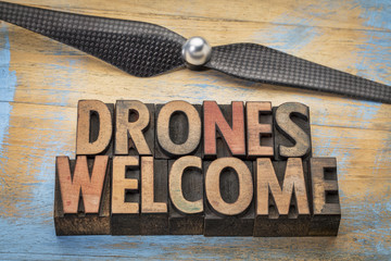 drones welcome word abstract