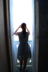 Silhouette in doorway