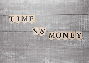 time vs money paper letters symbol motivation sign