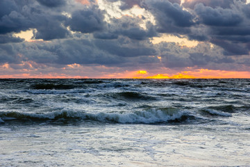 Sunset over the Baltic sea.
