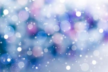 Snowfall winter background. Christmas holiday time