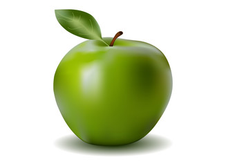 Fresh green tasty apple
