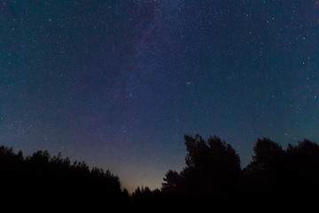 The Milky Way. A beautiful August summer night sky with stars. S