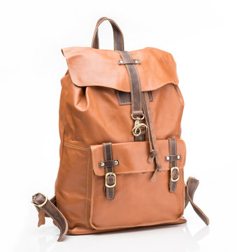 Foxy leather  casual backpack