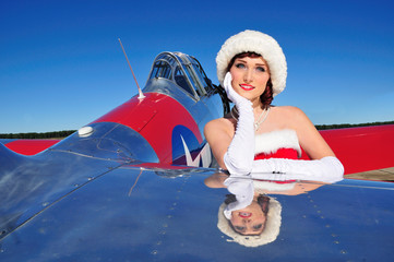 beautiful Christmas pin up girl