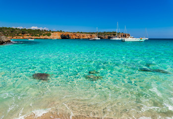 Idyllic Bay Coast Mediterranean Sea Spain Majorca Cala Varques