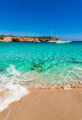 Picturesque Sea Landscape Seaside Cala Varques Majorca Spain