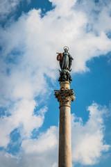 La colonne antique de l'Immaculée Conception à Rome