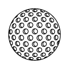ball golf sport equipment vector illustration design
