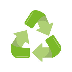 Recycle icon. Ecology renewable and conservation theme. Isolated design. Vector illustration