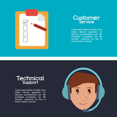 customer service worker related icons image vector illustration